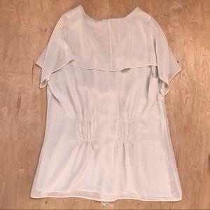 CABI Tops - Cabi Blouse Cream Short Sleeves Small S Shirt